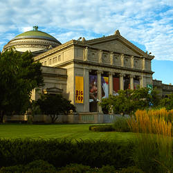 Facade of a museum, Museum Of Science And Industry, Hyde Park, Chicago, Cook County, Illinois, USA