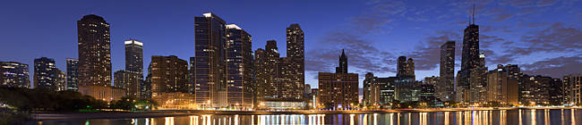 Buildings at the waterfront, Lake Michigan, Chicago, Cook County, Illinois, USA