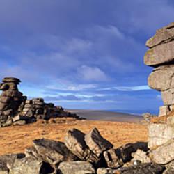 Rock formations, Great Staple Tor, Dartmoor National Park, Devon, England
