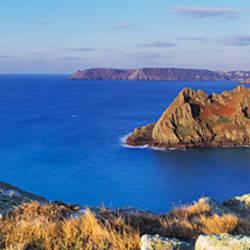 Rock formations on coast, Gammon Head, South Devon, Devon, England