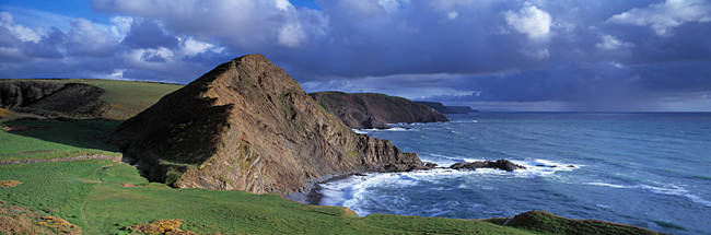 Rock formations, St Catherine's Tor, Speke's Mill Mouth, North Devon, Devon, England