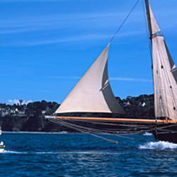 Tall ship regatta featuring, Baie De Douarnenez, Finistere, Brittany, France
