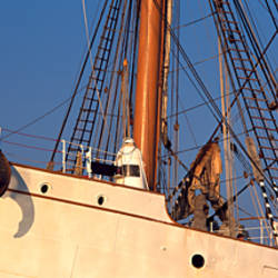 Low angle view of a tall ship, Baie De Douarnenez, Finistere, Brittany, France