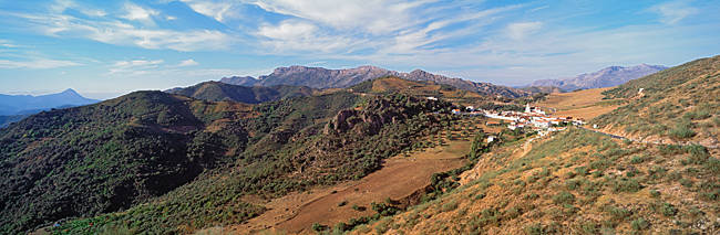 Village on a mountain, Serrania De Ronda, Atajate, Pueblos Blancos, Malaga Province, Andalusia, Spain