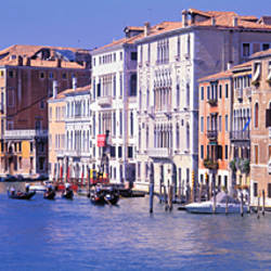 Buildings along a canal, Grand Canal, Venice, Italy
