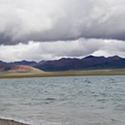 Clouds over a lake, Namco Lake, Tibet, China