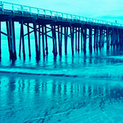 Pier at sunset, Malibu Pier, Malibu, Los Angeles County, California, USA