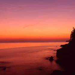 Lighthouse on the coast, Bass Head Lighthouse built 1858, Bass Harbor, Hancock County, Mount Desert Island, Maine, USA