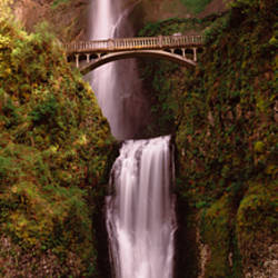 Waterfall in a forest, Multnomah Falls, Columbia River Gorge, Oregon, USA