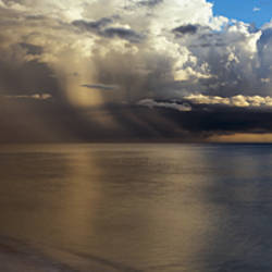 Storm clouds over the sea, Delnor-Wiggens Pass Beach, Naples, Florida, USA