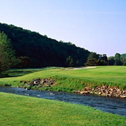 Pond in a golf course, Carroll Valley Resort Golf Course, Fairfield, Pennsylvania, USA