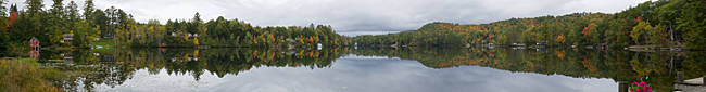 Reflection of trees in a lake, Partridge Lake, Grafton County, New Hampshire, USA