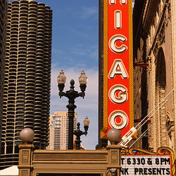 Theater in a city, Chicago Theatre, Chicago, Cook County, Illinois, USA