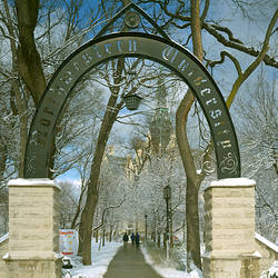 Entrance of a university, Northwestern University, Evanston, Cook County, Illinois, USA
