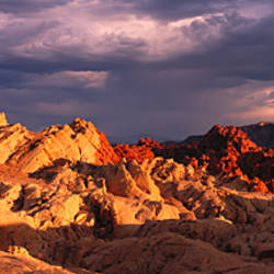 Rock formations on a landscape, Valley of Fire State Park, Nevada, USA