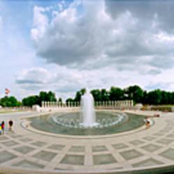 360 degree view of a war memorial, National World War II Memorial, Washington DC, USA