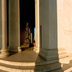 Columns of a memorial, Jefferson Memorial, Washington DC, USA