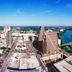360 degree view of a city, Austin, Travis county, Texas, USA