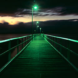 Bridge at night, Wellington Point, Brisbane, Queensland, Australia