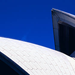 Low angle view of opera house sails, Sydney Opera House, Sydney Harbor, Sydney, New South Wales, Australia