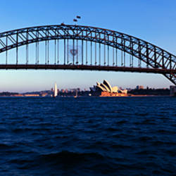 Bridge across the sea, Sydney Harbor Bridge, McMahons Point, Sydney Harbor, Sydney, New South Wales, Australia