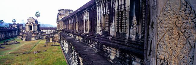 Courtyard of a temple, Angkor Wat, Siem Reap, Angkor, Cambodia