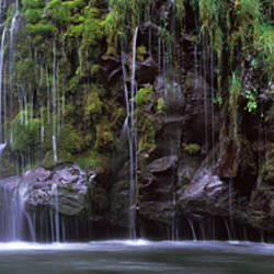Waterfall, Mossbrae Falls, Sacramento River, Dunsmuir, Siskiyou County, California, USA