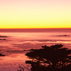 Sea at sunset, Point Lobos State Reserve, Carmel, Monterey County, California, USA