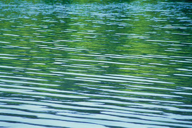 Rippled pattern on water surface