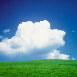 Clouds over a grassland