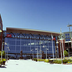 Facade of a stadium, Lambeau Field, Green Bay, Wisconsin, USA