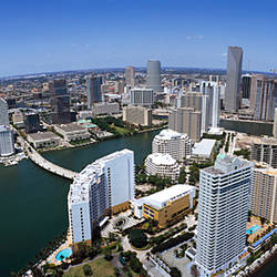 Aerial view of a city, Miami, Miami-Dade County, Florida, USA 2008