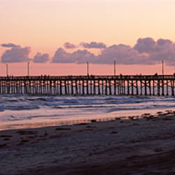 Pier in an ocean, Newport Pier, Newport Beach, Orange County, California, USA