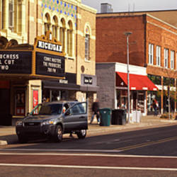 Street scene in a city, Liberty Street, Ann Arbor, Washtenaw County, Michigan, USA