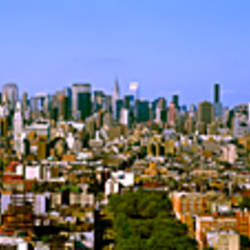 180 degree view of a city, New York City, New York State, USA