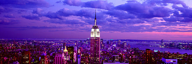 Aerial view of a city, Rockefeller Center, Midtown Manhattan, Manhattan, New York City, New York State, USA