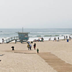 Tourists on the beach, Santa Monica Beach, Santa Monica, California, USA