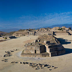 Ruins at an archaeological site, Monte Alban, Oaxaca, Mexico