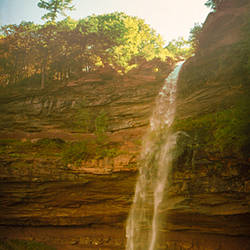 Waterfall, Kaaterskill Falls, Catskill Mountains, Hunter, Greene County, New York State, USA
