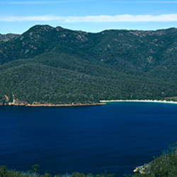 High angle view of a bay, WineGlass Bay, Freycinet National Park, Tasmania, Australia