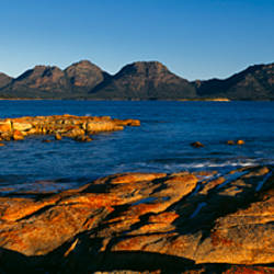 Rocks on the coast, The Hazards, Coles Bay, Freycinet National Park, Tasmania, Australia