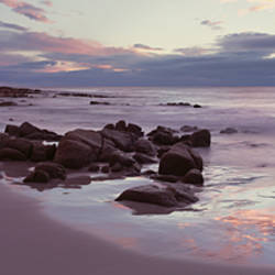 Beach at sunrise, Friendly Beaches, Freycinet National Park, Tasmania, Australia