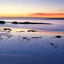 Beach at sunrise, Jeanneret Beach, Bay of Fires National Park, Tasmania, Australia