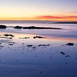Beach at sunrise, Jeanneret Beach, Bay of Fires National Park, Tasmania, Australia