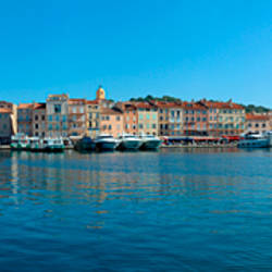 Port at the hillside, St. Tropez, Var, Provence-Alpes-Cote d'Azur, France