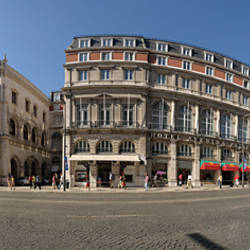Buildings at a town square, Rossio Square, Lisbon, Portugal