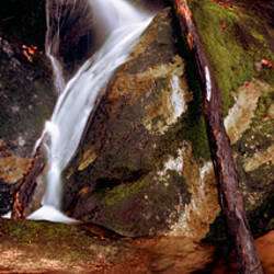 Low angle view of a waterfall, Blue Ridge Mountains, Appalachian Mountains, USA