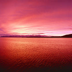 Sea at sunset, Frederick Sound, Admiralty Island, Kupreanof Island, Alaska, USA