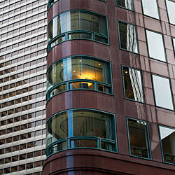 Low angle view of office buildings, San Francisco, California, USA