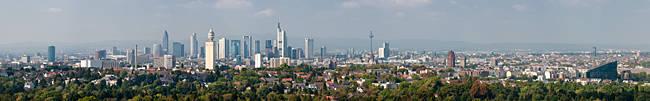 Buildings in a city, Frankfurt, Hesse, Germany 2010